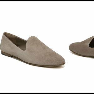 Vince milo loafer grey suede flat sz 7.5
